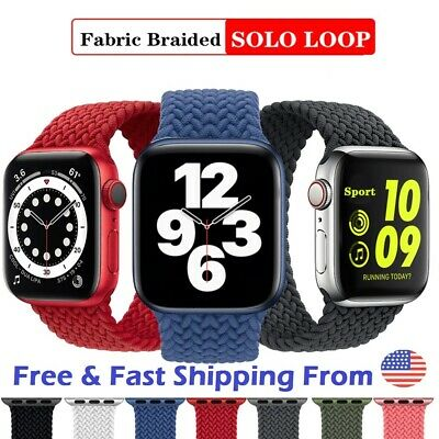 $ CDN23.77 • Buy Braided Solo Loop Strap Band For Apple Watch Series 1/2/3/4/5/6 & SE