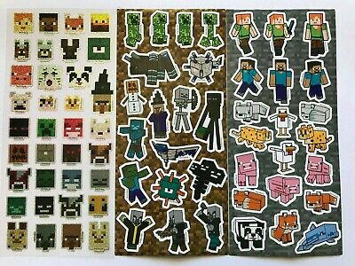 AU5.49 • Buy 73 X Minecraft Stickers 3 Sheets - Holographic - Mine Craft