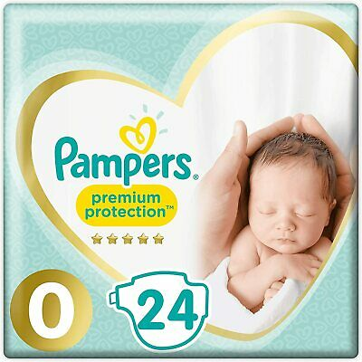 Pampers Premium Protect Micro Size 0 Newborn Nappies Pack Size 24 • 5.49£
