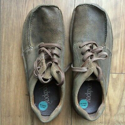 Rockport Men's Brown Suede Leather Casual Shoes Size UK 6.5, Very Good Condition • 3.50£