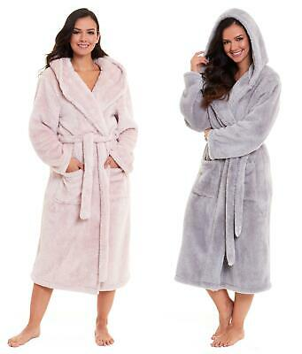 £19.99 • Buy Ladies Snuggle Dressing Gown Robes Extra Long Super Soft Cuddly Bathrobe Gowns