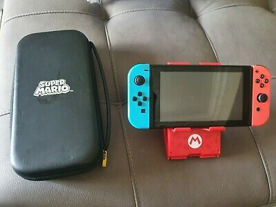 AU330 • Buy Nintendo Switch Neon Console Unpatched Hackable With Case And Stand No Dock