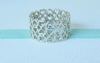 Tiffany & Co 6 Silver Paloma Picasso Triple Row Crown Of Hearts Ring Size 5.5 • 150£