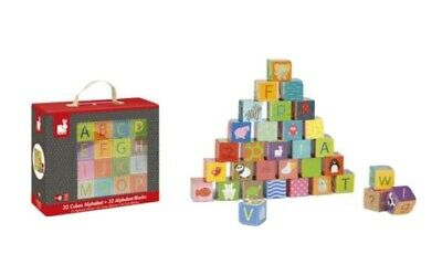 Janod 32 Alphabet Cubes Brand New Sealed • 4.99£