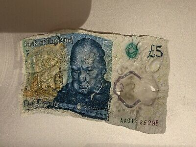AA01 Five Pound Note - AA01 485295 Circulated But In Rubbish Condition • 4.99£
