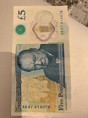 AK47 Five Pound Note - AK 47 914079 Circulated But In Good Condition. • 5.69£