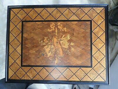 Gillows &Co Musical Marquetry Writing/occasional Table • 1,995£