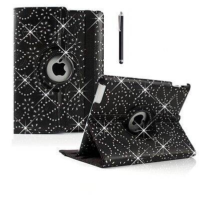 £3.99 • Buy 360° Rotating Bling Leather BOOK Stand Case Cover For APPLE IPad 2/3/4 Air Mini