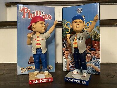 $ CDN76.11 • Buy Sandlot Bobblehead Lot Ham Porter Milwaukee Brewers Philadelphia Phillies