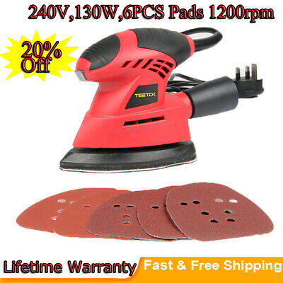 Hand Held Mouse Sanding Machine Small Electric Tight Corners Sander Angle Base • 19.28£