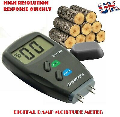 4-Pin Digital Moisture Meter PRO Damp Detector Timber Wood Tester Plaster Sensor • 11.99£