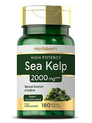 View Details Sea Kelp 2000mg | 180 Vegan Tablets | Thyroid Support-Natural Iodine Supplement  • 12.99£