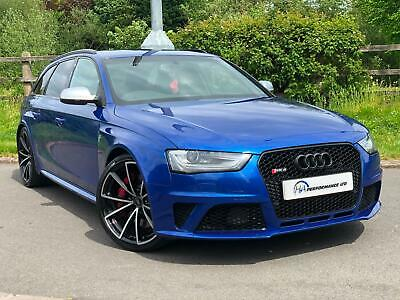 2014/14 Audi RS4 Avant 4.2 TFSI SEPANG BLUE CAT N V SPOKES RS SPORTS EXHAUST PX • 20,995£