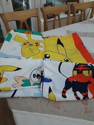 Pokemon Reversible Single Quilt Covers And Pillow Cases X2 • 5£