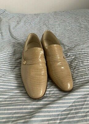 Snakeskin Leather Slip On Formal Shoes, Mens UK9.5 Retro, Loafers, Leather Sole • 25£