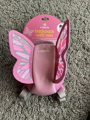 Toddler Littlelife Butterfly Backpack With Rein • 12£