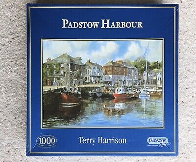 1000 PIECE - PADSTOW HARBOUR - BOATS SEASIDE TOWN - By TERRY HARRISON - PUZZLE • 8£