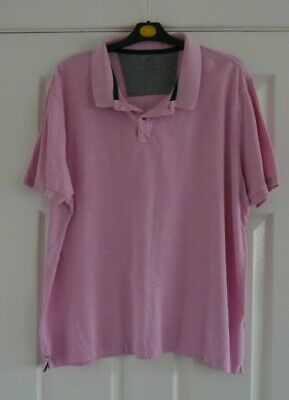 MARKS AND SPENCER Mens Pique Mens 100% Cotton Dusty Pink Polo Shirt -extra Large • 2.99£