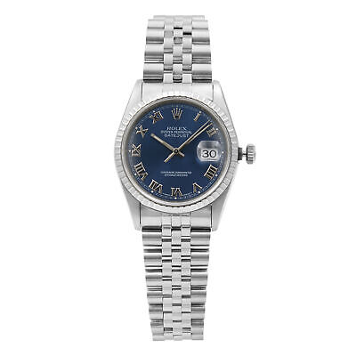 $ CDN6285.11 • Buy Rolex Datejust Stainless Steel Blue Roman Dial Automatic Mens Watch 16220