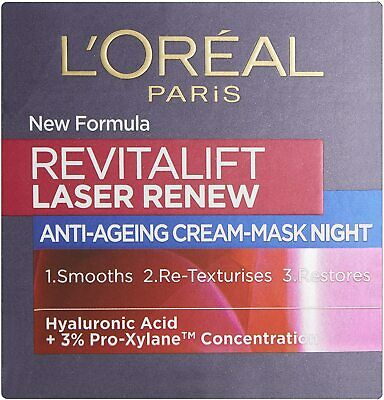 L'Oréal Revitalift Laser Renew Anti Ageing Night Cream 50ml • 10.99£
