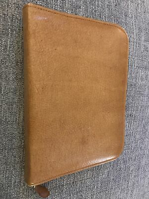 "Women's Leather Tan Clutch Bag/purse/wallet 8"" X 6"" Closed • 1.50£"