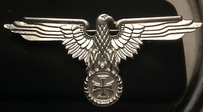 WW2 German Military Cap Badge Eagle And Iron Cross Style  • 3.49£
