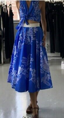 AU189 • Buy Scanlan Theodore, 2 Piece Floral Skirt And Top, Size 10, RRP $520