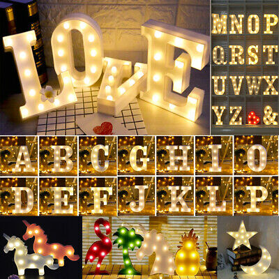 £7.82 • Buy LED Alphabet Letters Lights Light Up Plastic Numbers Party Birthday Sign Decor