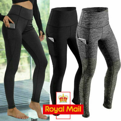 Women High Waist Gym Leggings Pocket Fitness Sports Running Ladies Yoga Pants D8 • 3.80£