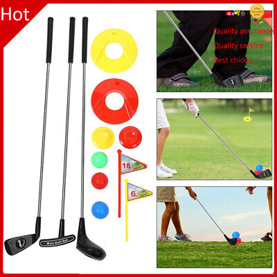 10x Kids Toy GolfClubs Set Outdoor GolfToddler Preschool Educational Toy Game • 17.99£