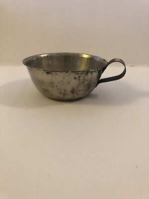 $ CDN19.82 • Buy Antique Primitive  Tin Coffee Cup 1 3/4 By 4 1/4 Inches