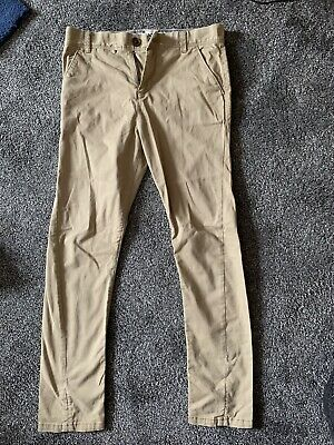 Boys NEXT Stone Twisted Chinos Age 12 Years • 5£