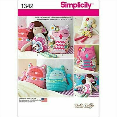 Simplicity Sewing Pattern 1342 - Stuffed Doll & Animals. By Emmi''s Cottage • 5.99£