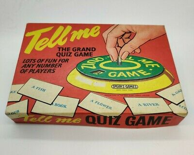 Vintage Tell Me Quiz Game • 10£