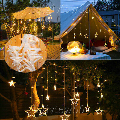 Plug Fairy Lights Festoon Led String Light Star Garland On Window Curtain Indoor • 3.38£