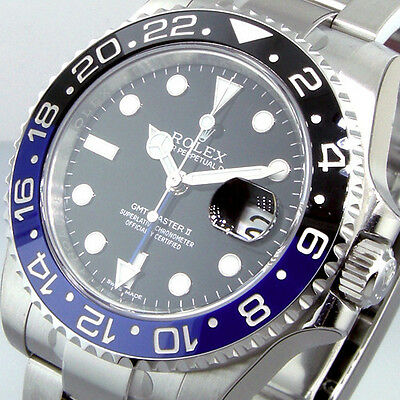 $ CDN24645.06 • Buy ROLEX GMT MASTER Ll 116710BLNR BATMAN STEEL BLUE BLACK 116710 BLNR