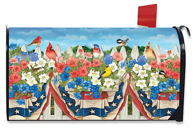 $16.99 • Buy American Birds Spring Magnetic Mailbox Cover Floral Standard Briarwood Lane