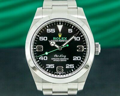 $ CDN11026.95 • Buy Rolex 116900 Air King 116900 Black Dial SS WITH ORIGINAL BOX AND PAPERS!