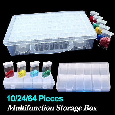 24/64Grid Diamond Embroidery Painting Tool Storage Box Jewelry Beads Drill Boxes • 9.69£