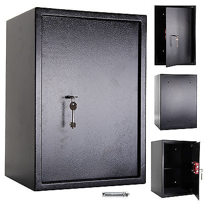 Large High Security Secure Keys Steel Safe Home Office Safety Box 7 Lever Lock • 59.99£