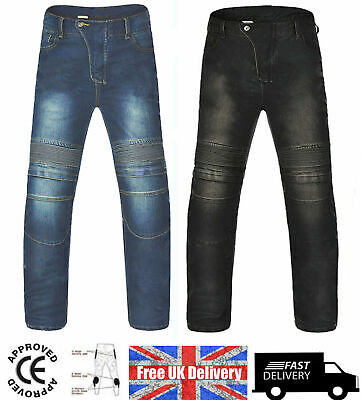 Motorcycle Jeans Motorbike Pants Denim Trousers Off Road With & Without Armour • 19.99£