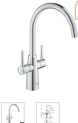 Grohe Ambi Dual Lever Kitchen Mixer Tap • 89.99£