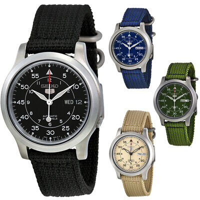 $ CDN115.09 • Buy Seiko 5 Canvas Strap Automatic Stainless Steel Men's Watch