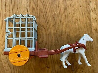 Playmobil Prison Cart With Horse Missing Gate • 4.99£
