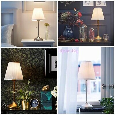 IKEA ARSTID Table Lamp Nickel-Plated White  - Brass/white NEW  • 29.99£