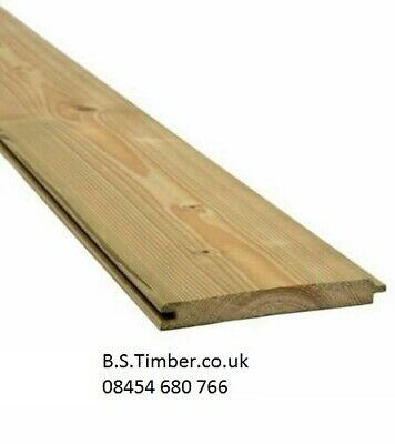 £1.95 • Buy T&G Cladding Ex25 X 125mm  Ptgv - Match Board Pressure Treated Tongue And Groove
