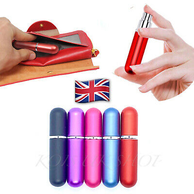 5ml Refillable Perfume Atomiser Bottles Travel Convenient Mini Portable Spray   • 3.95£