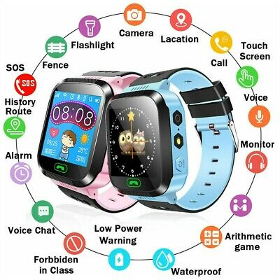 AU23.79 • Buy Kids Smart Watch Camera GSM SIM SOS Call Phone Game Watches For Boys Girls Gifts