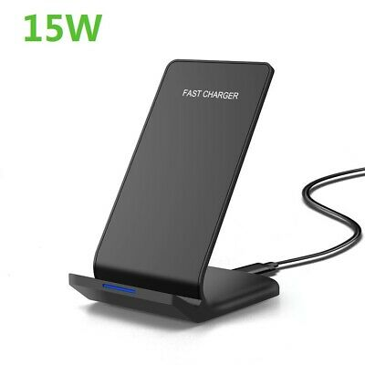 AU19.89 • Buy AU 15W Qi Fast Wireless Charger Charging Dock Pad Stand For IPhone 12 Pro 11 X 8