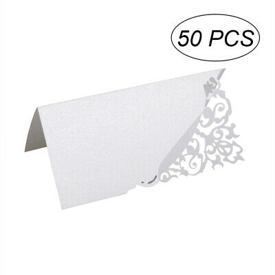£6.99 • Buy 50PCS Name Setting Place Card Hollow Flower Cut Wedding Party Table Cards Decor